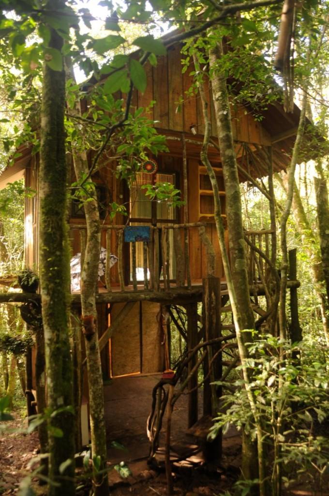 A casinha em que fiquei hospedada no Tekowa Xiin'guy.