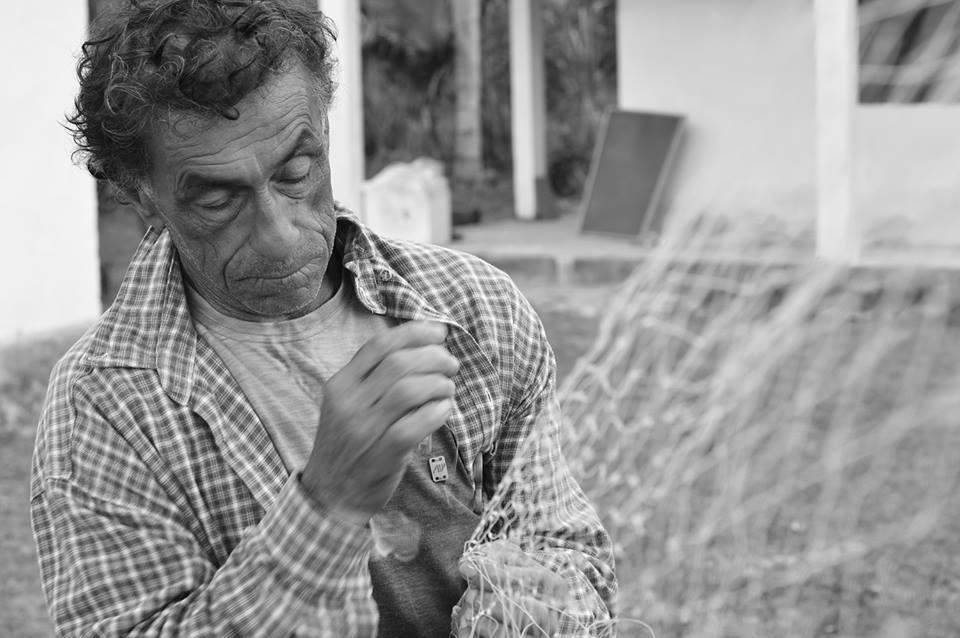 Seu José, de Poruquara. A sabedoria da pesca. Imagem: Thaysa Maso.